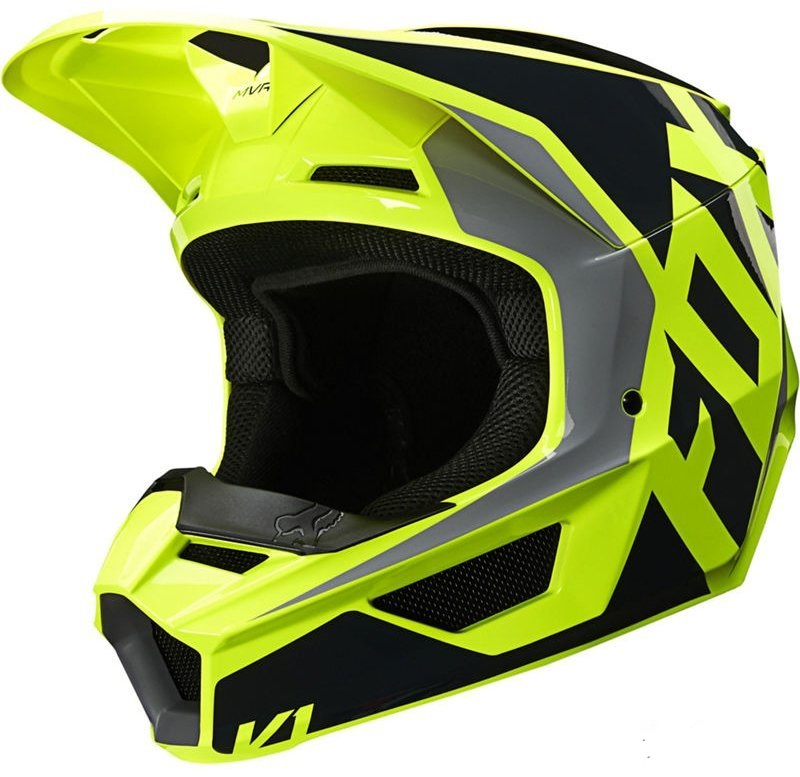 МОТОШЛЕМ FOX V1 PRIX HELMET [BLACK YELLOW]  Артмото - купить квадроцикл в украине и харькове, мотоцикл, снегоход, скутер, мопед, электромобиль