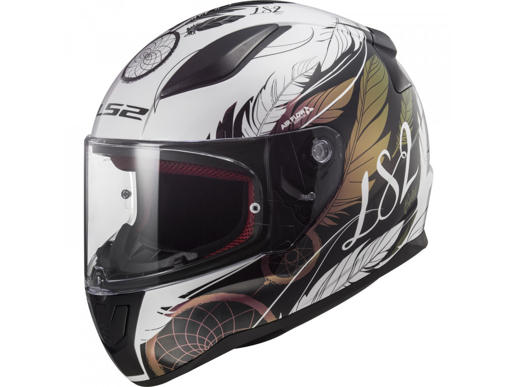 МОТОШЛЕМ LS2 FF353 RAPID BOHO WHITE-BLACK-PINK  Артмото - купить квадроцикл в украине и харькове, мотоцикл, снегоход, скутер, мопед, электромобиль