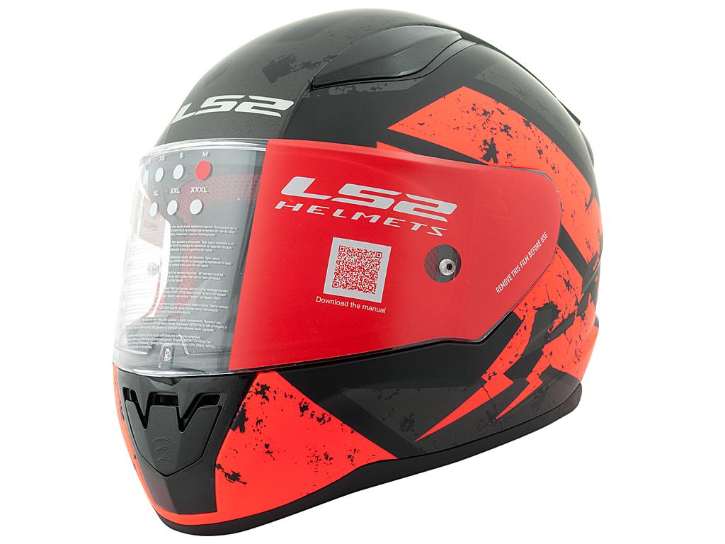 МОТОШЛЕМ LS2 FF353 RAPID DEADBOLT MATT BLACK-ORANGE  Артмото - купить квадроцикл в украине и харькове, мотоцикл, снегоход, скутер, мопед, электромобиль