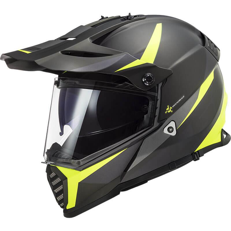 КРОССОВЫЙ (Эндуро) ШЛЕМ LS2 MX436 PIONEER EVO ROUTER HI VIS YELLOW  Артмото - купить квадроцикл в украине и харькове, мотоцикл, снегоход, скутер, мопед, электромобиль