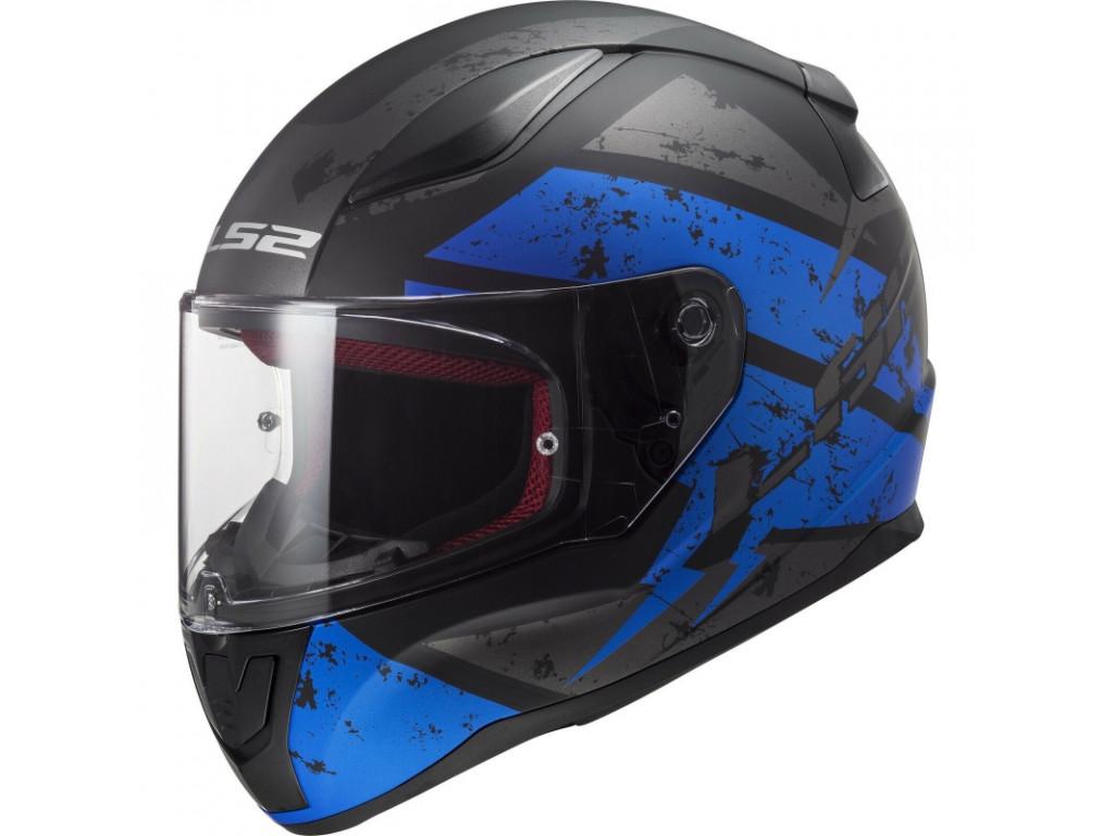 МОТОШЛЕМ LS2 FF353 RAPID DEADBOLT MATT BLACK-BLUE  Артмото - купить квадроцикл в украине и харькове, мотоцикл, снегоход, скутер, мопед, электромобиль