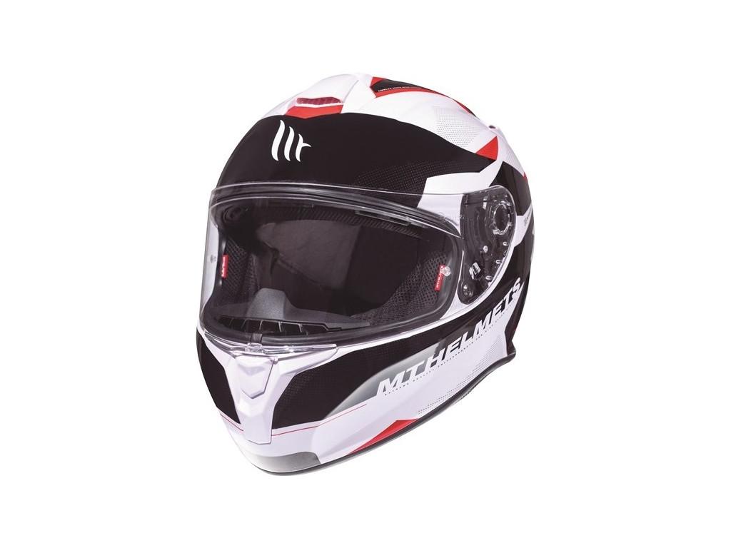 МОТОШЛЕМ MT TARGO ENJOY WHITE-BLACK-RED  Артмото - купить квадроцикл в украине и харькове, мотоцикл, снегоход, скутер, мопед, электромобиль