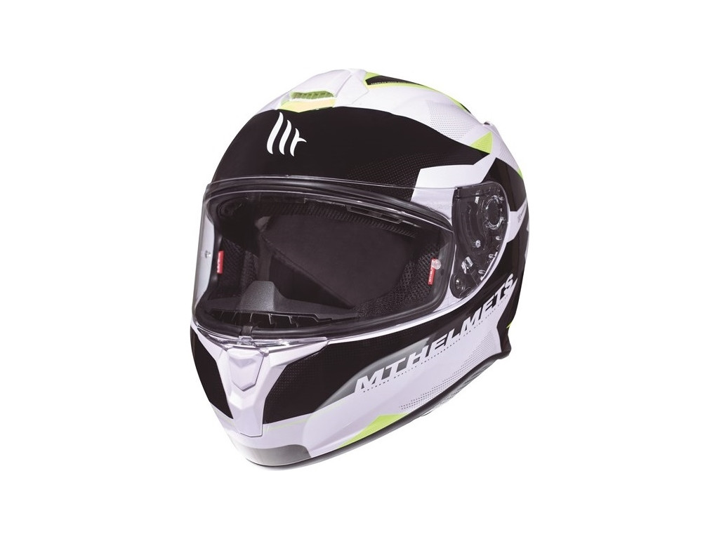 МОТОШЛЕМ MT TARGO ENJOY WHITE-FLUOR YELLOW  Артмото - купить квадроцикл в украине и харькове, мотоцикл, снегоход, скутер, мопед, электромобиль