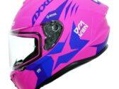 Мотошлем AXXIS DRAKEN RIVAL B8 Matt Fluor Yellow Pink