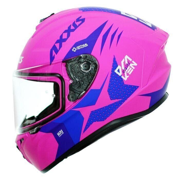 Мотошлем AXXIS DRAKEN RIVAL B8 Matt Fluor Yellow Pink  Артмото - купить квадроцикл в украине и харькове, мотоцикл, снегоход, скутер, мопед, электромобиль