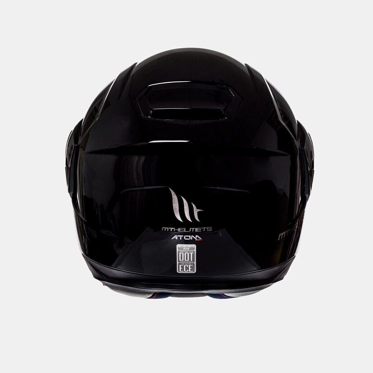 Мотошлем MT ATOM SV SOLID GLOSS BLACK  Артмото - купить квадроцикл в украине и харькове, мотоцикл, снегоход, скутер, мопед, электромобиль