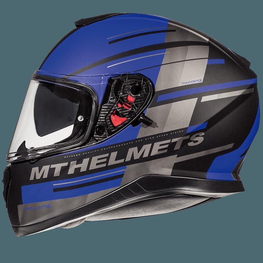 Мотошлем MT THUNDER 3 SV PITLANE MATT BLUE  Артмото - купить квадроцикл в украине и харькове, мотоцикл, снегоход, скутер, мопед, электромобиль