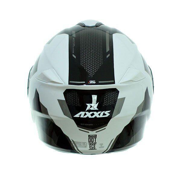 Мотошлем AXXIS STORM SV DRONE GLOSS PEARL GREY  Артмото - купить квадроцикл в украине и харькове, мотоцикл, снегоход, скутер, мопед, электромобиль
