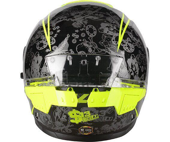 Мотошлем LAZER RAFALE SR Stunter Black Fluor Yellow  Артмото - купить квадроцикл в украине и харькове, мотоцикл, снегоход, скутер, мопед, электромобиль