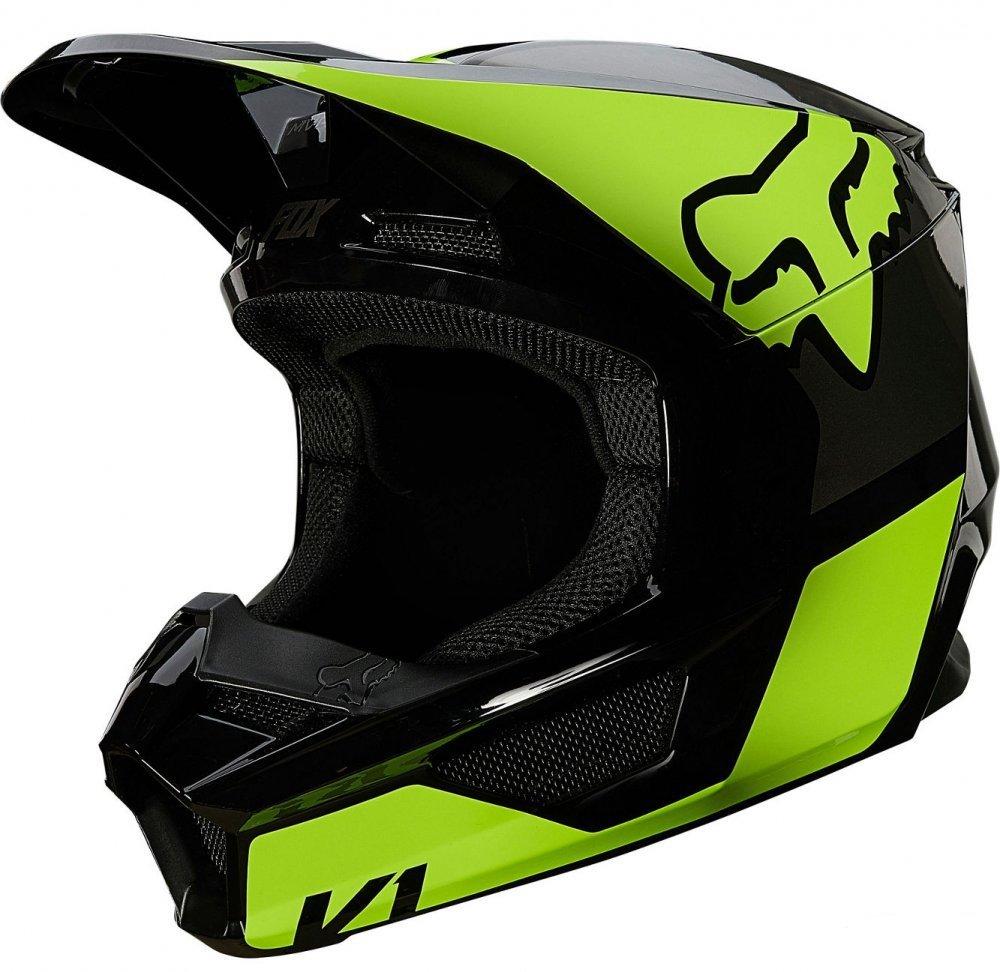 Детский мотошлем FOX YTH V1 MIPS REVN HELMET [Flo Yellow]  Артмото - купить квадроцикл в украине и харькове, мотоцикл, снегоход, скутер, мопед, электромобиль