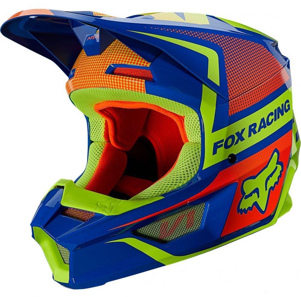Детский мотошлем FOX YTH V1 OKTIV HELMET [Blue]  Артмото - купить квадроцикл в украине и харькове, мотоцикл, снегоход, скутер, мопед, электромобиль