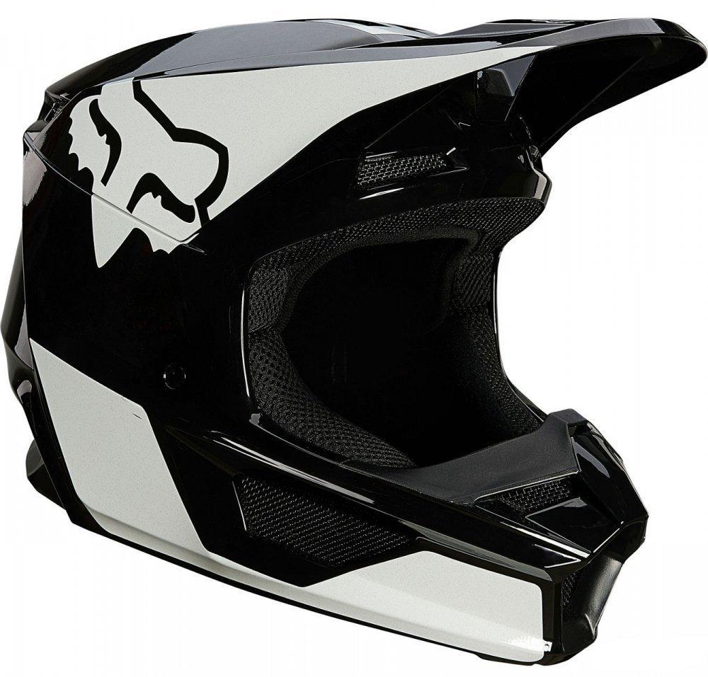 Детский мотошлем FOX YTH V1 MIPS REVN HELMET [Black/White]  Артмото - купить квадроцикл в украине и харькове, мотоцикл, снегоход, скутер, мопед, электромобиль