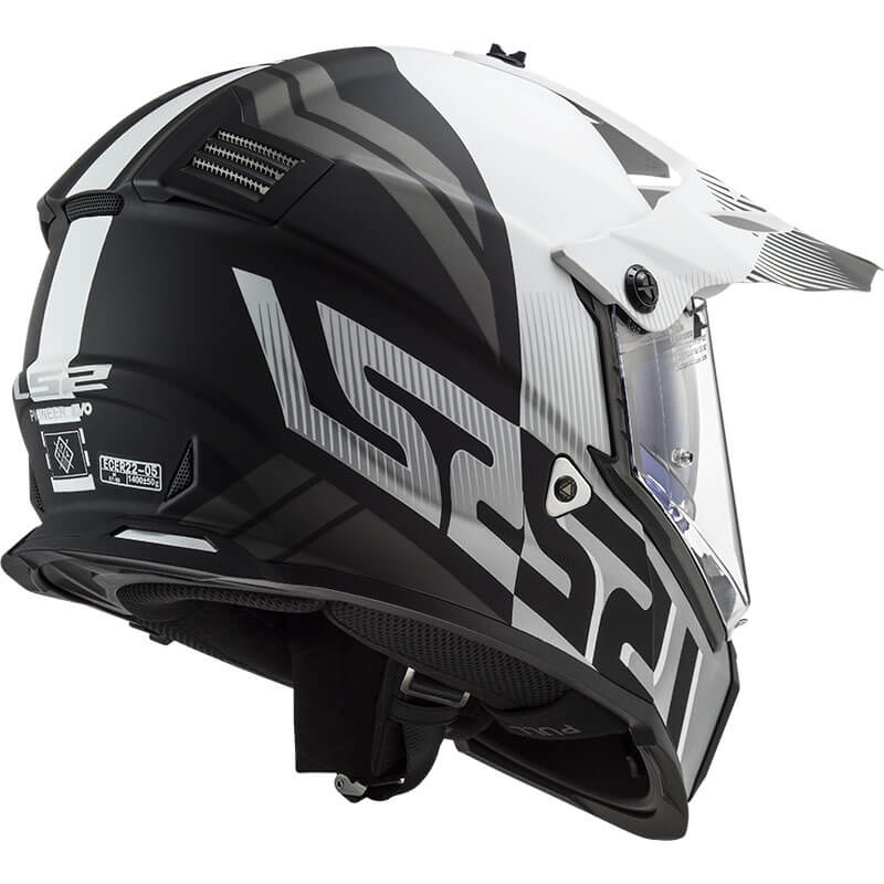 КРОССОВЫЙ ШЛЕМ LS2 MX436 PIONEER EVO EVOLVE WHITE MATT BLACK  Артмото - купить квадроцикл в украине и харькове, мотоцикл, снегоход, скутер, мопед, электромобиль