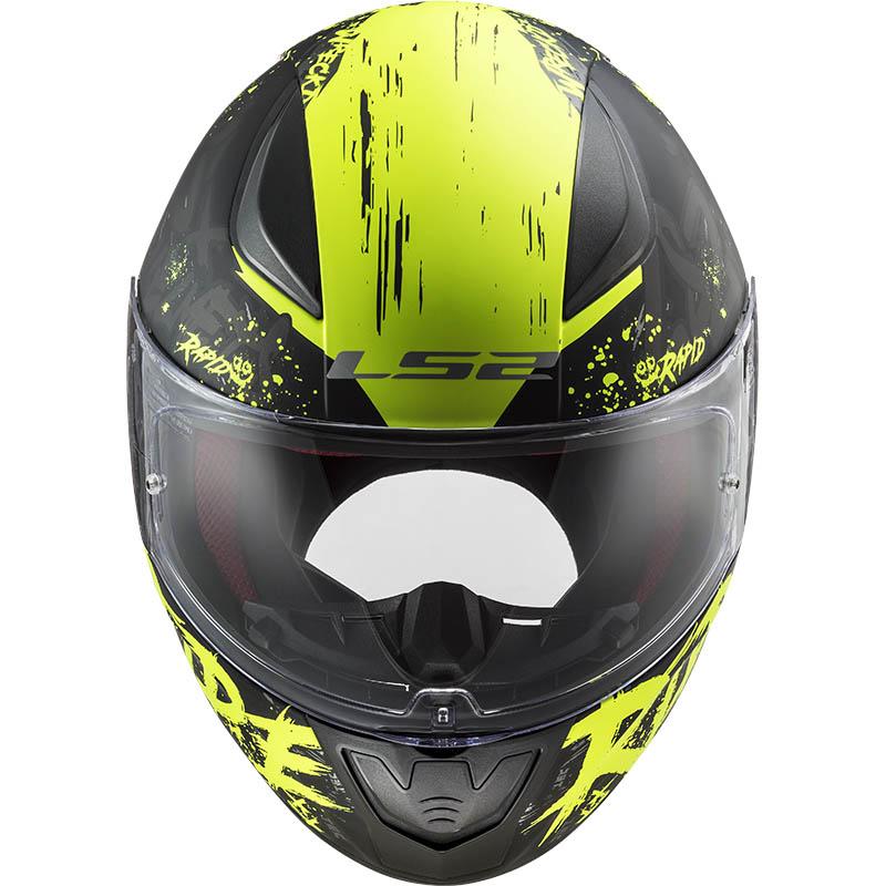 МОТОШЛЕМ LS2 FF353 RAPID NAUGHTY MATT BLACK H-V YELLOW  Артмото - купить квадроцикл в украине и харькове, мотоцикл, снегоход, скутер, мопед, электромобиль