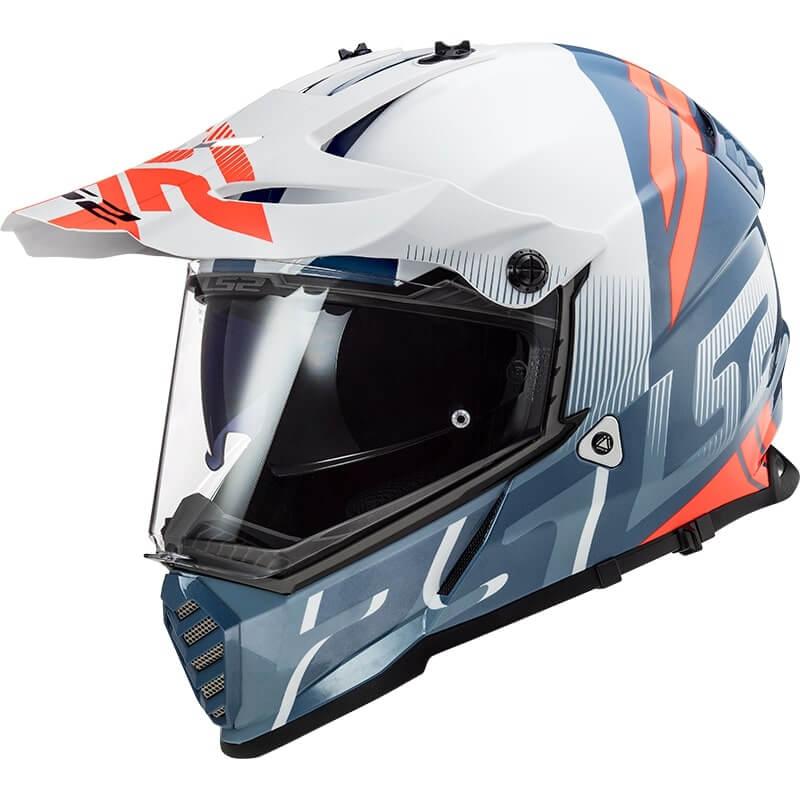 КРОССОВЫЙ ШЛЕМ LS2 MX436 PIONEER EVO EVOLVE WHITE COBALT  Артмото - купить квадроцикл в украине и харькове, мотоцикл, снегоход, скутер, мопед, электромобиль