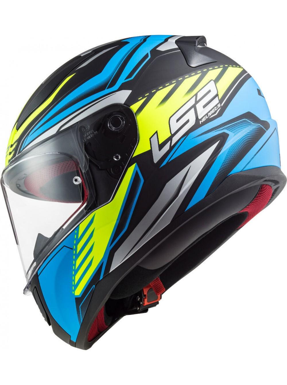 МОТОШЛЕМ LS2 FF353 RAPID GALE MATT BLACK BLUE YELLOW  Артмото - купить квадроцикл в украине и харькове, мотоцикл, снегоход, скутер, мопед, электромобиль
