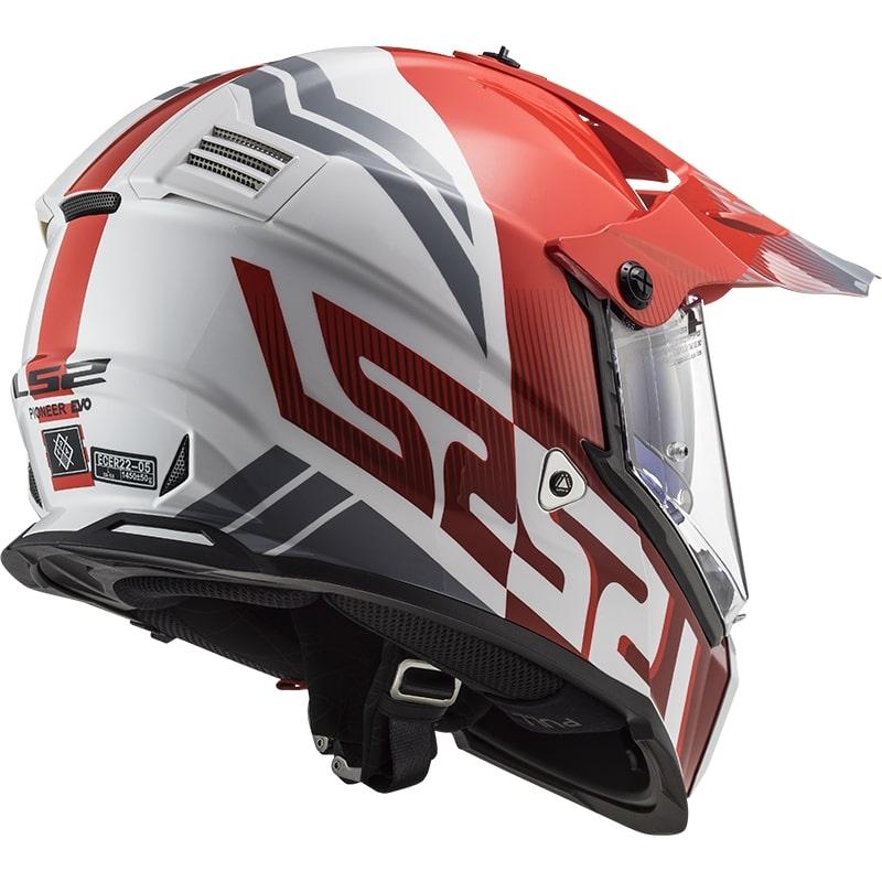 КРОССОВЫЙ ШЛЕМ LS2 MX436 PIONEER EVO EVOLVE EVOLVE RED WHITE  Артмото - купить квадроцикл в украине и харькове, мотоцикл, снегоход, скутер, мопед, электромобиль