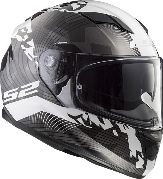 Мотошлем LS2 FF320 STREAM EVO HYPE BLACK WHITE TITANIUM  Артмото - купить квадроцикл в украине и харькове, мотоцикл, снегоход, скутер, мопед, электромобиль