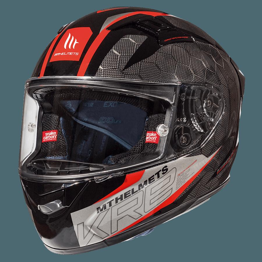Мотошлем MT KRE GLOSS SNAKE CARBON 2.0 Red  Артмото - купить квадроцикл в украине и харькове, мотоцикл, снегоход, скутер, мопед, электромобиль