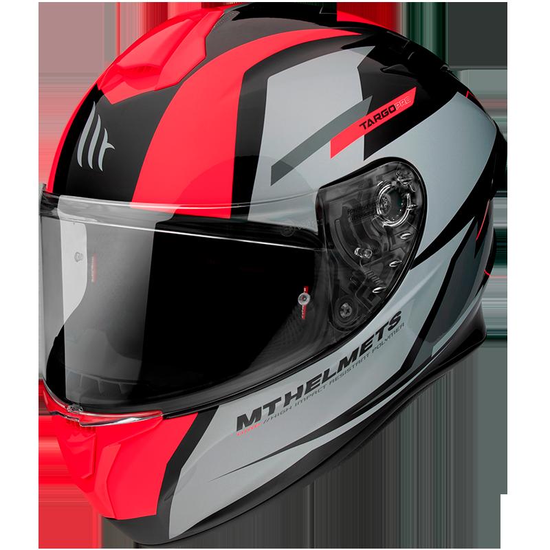 Мотошлем MT TARGO PRO Sound A5 Gloss Fluor Red  Артмото - купить квадроцикл в украине и харькове, мотоцикл, снегоход, скутер, мопед, электромобиль